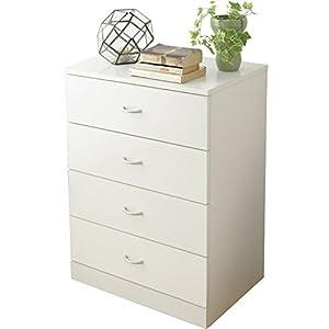 チェスト 4段 木製 幅58.5×奥行38.5×高さ80.5cm ホワイト 96839