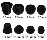 A-Focus イヤーピース イヤーチップ Beats by Dr.Dre ワイヤレスイヤホン BeatsX ブラック MLYE2PA/A に対応する φ3.5㎜-3.8㎜内径イヤホンに適用 イヤホンカバー 4サイズ入り 計4ペア シリコン 快適 互換品 SMLサイズとダブルフランジ 4サイズ ブラック