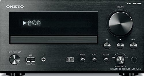 ONKYO ネットワークCDレシーバー ハイレゾ音源対応 ブラック CR-N755(B)