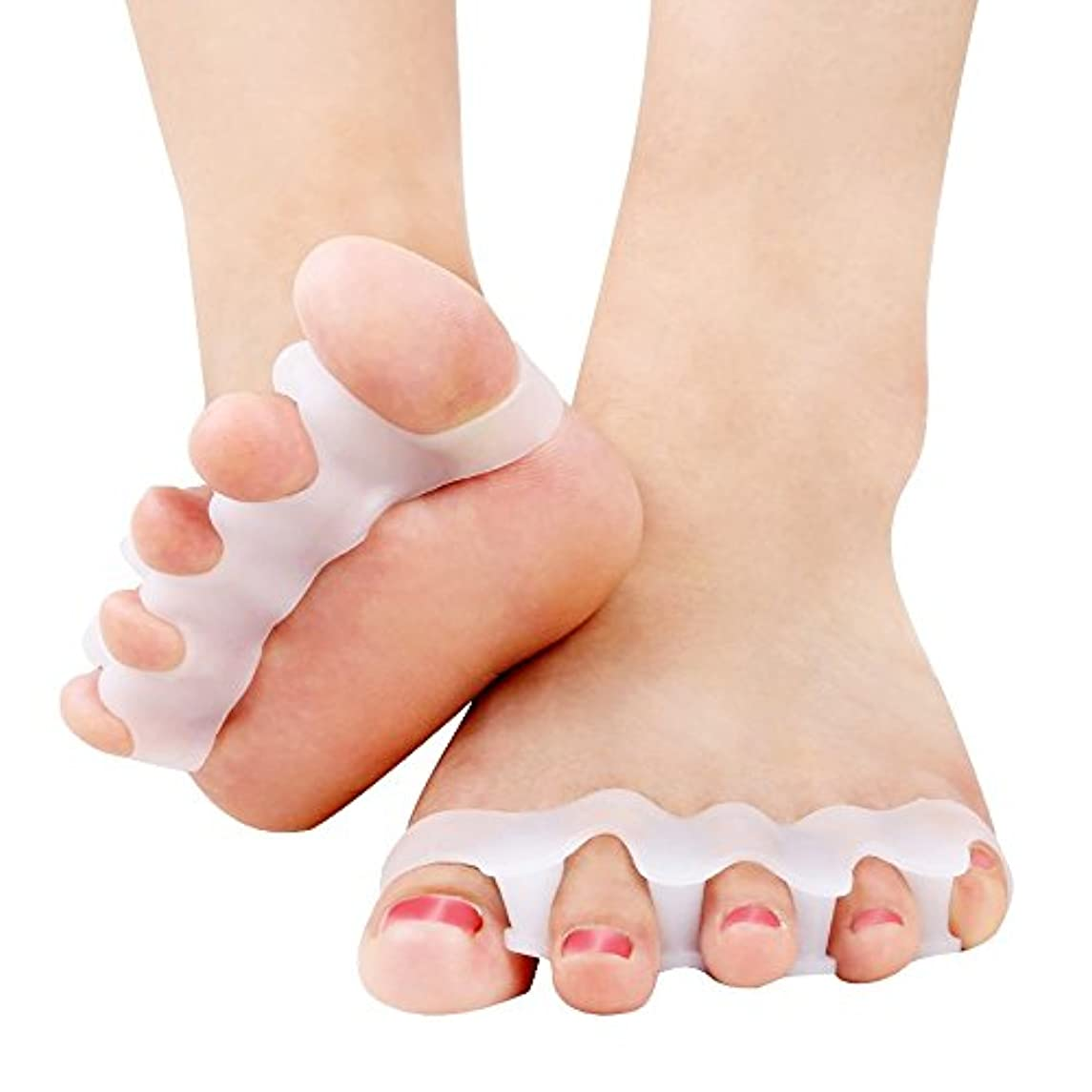 エスカレート呼吸死にかけているCandyBox 女子力UP フットネイル ペディキュア 足指全開 自宅で簡単 仕上がり奇麗 柔らかシリコン フリーサイズ