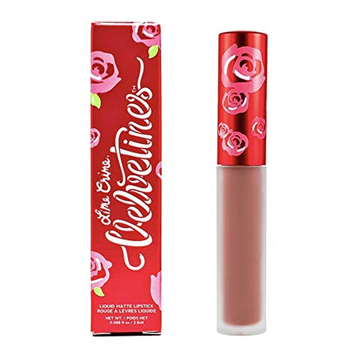 同情原理ちょっと待ってLime Crime Velvetines Long Lasting Liquid Matte Lipstick (Elle)