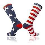 TCK Stars & Stripes愛国アメリカ国旗Mismatchサッカー& Football Athletic Socks S