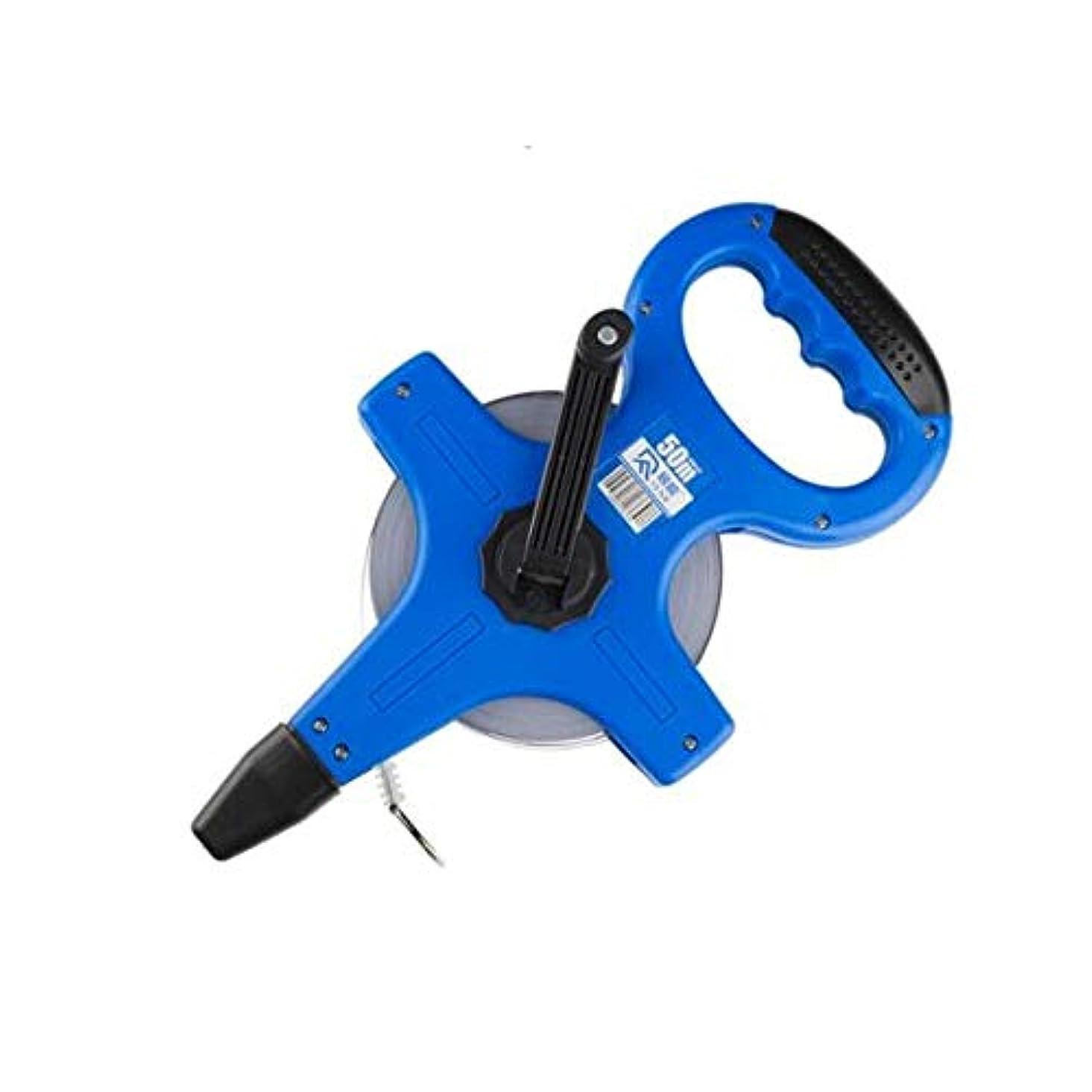 なに寸法誓約NTSM スチールテープメジャー、フレームルーラー、50mポータブルフレームスチールテープメジャー、ロングテープメジャー、エンジニアリングルーラー、測定ルーラー、メータールーラー装飾測定ルーラー (Color : Blue, Size : 50m)