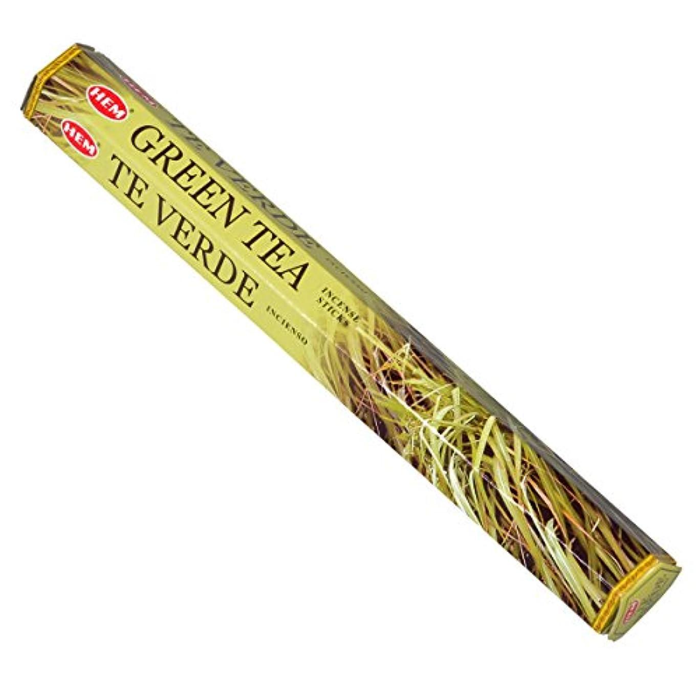 返済機知に富んだゴミHEM(ヘム) グリーン ティー GREEN TEA スティックタイプ お香 1筒 単品 [並行輸入品]