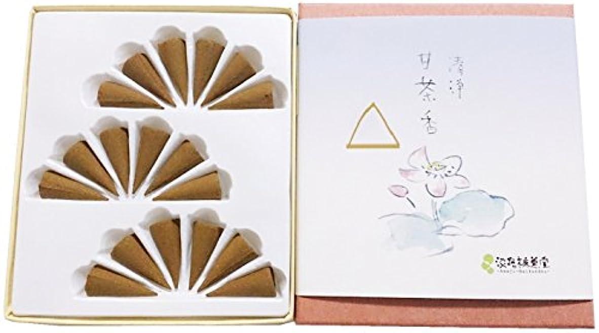 系統的ドロー飼いならす淡路梅薫堂のお香 清浄甘茶香 コーン型 18個入 #5 incense cones 日本製