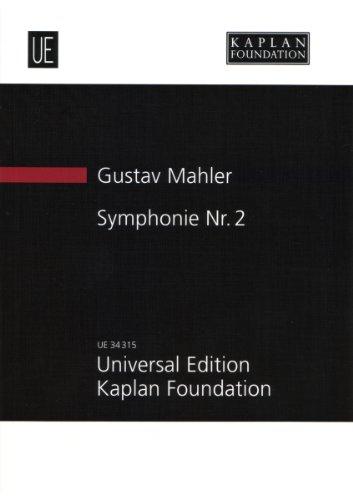 """Symphonie Nr. 2: """"Auferstehungssymphonie"""". fuer Soli, gemischten Chor (SATB) und Orchester. Studienpartitur."""