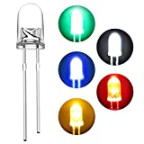 【450個】DiCUNO 発光ダイオード 5mm 透明LEDセット 超高輝度 円形ヘッド 白赤緑青黄各90個