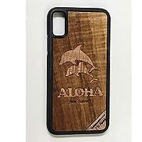 iPhone X/XS カバー 【 ドルフィン 】 ハワイ スマホ ケース 【 Ho Aloha 】 ハワイアン コアウッド アイフォン ケース