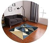 ヨーロッパとアメリカのシンプルな格子三角形のプリントカーペットホワイエリビングルームポーチベッドルームコーヒーテーブルバルコニー研究キッチンフロアマット,09,80×120CM