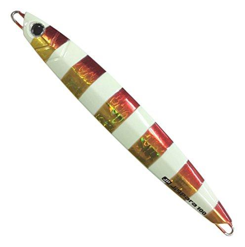 ジグパラ バーチカル 太刀魚 カラー 100g 8 ゼブラレッドゴールド