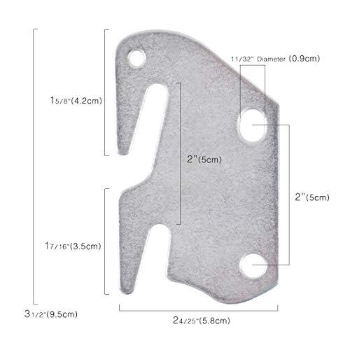 kilofly 2 PCS Wooden Bed Frame Bracket Headboard Footboard #10 Hook Plate