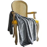 FLOWEROOM ひざ掛け ブランケット あったか 軽い 柔らかい 1年中に使える 洗える (グレー, 70 * 140cm)