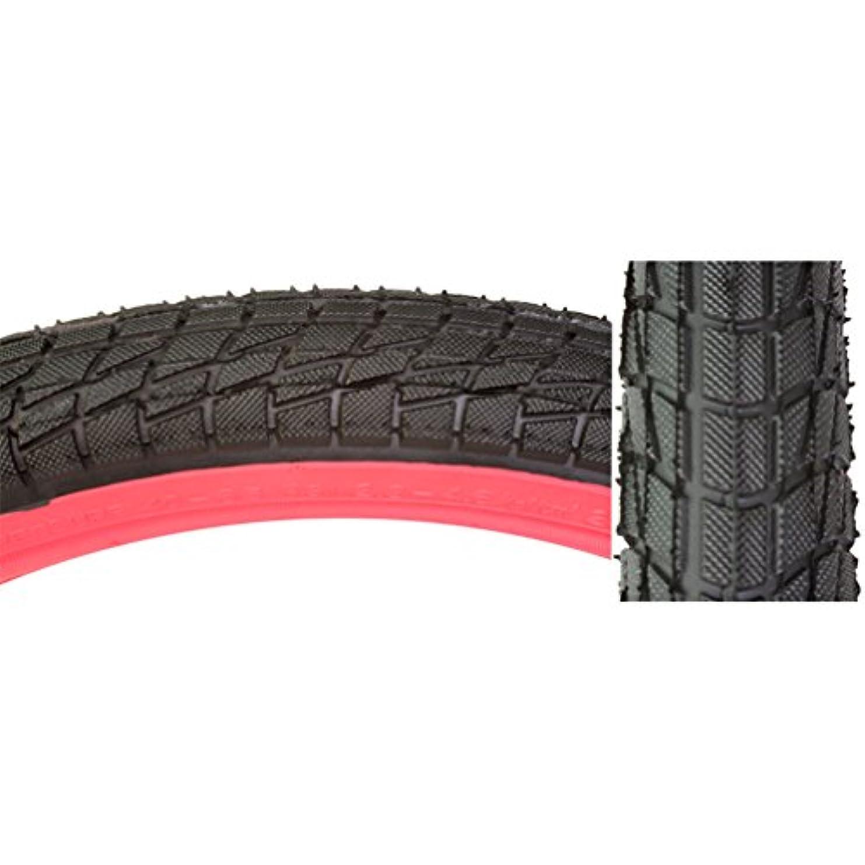 フラフープ秋構成Sunlite Freestyle BMX Kontact タイヤ 20インチ x 1.95インチ ブラック/レッド サイドウォール 個別販売