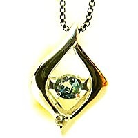 J-Jewelry K18ホワイトゴールド・震える・アレキサンドライト・ダイヤモンド・ネックレス・変色効果の稀少宝石