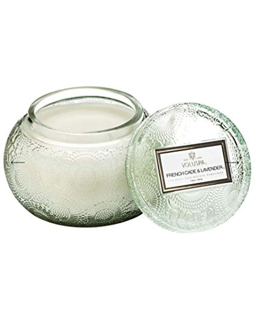 日付個人ルートVOLUSPA チャワングラスキャンドル French Cade Lavender フレンチケード&ラベンダー GLASS CANDLE ボルスパ