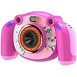 キッズカメラのHDデジタルカメラ2インチスクリーン広角110度マイク滑り止めとアンチドロップデザイン子供の日のための3-6歳子供ピンク