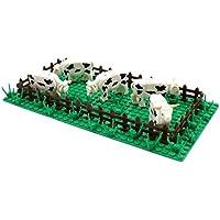 カントリー牧場 牛の放牧, フェンス、小動物、ベースと芝の幹