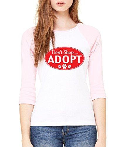 ないShop Adopt 3/ 4スリーブ犬猫好き動物Lo...