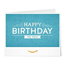 Amazonギフト券- 印刷タイプ(PDF) - 誕生日(ブルー)