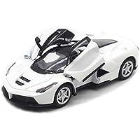 子供のおもちゃ ミニカー フェラーリⅠ 本物の自動車のように 知育玩具 ヘッドライトの点灯 音楽 大人の鑑賞用 メカニカル クリスマスのギフト ケース付 (ホワイト)
