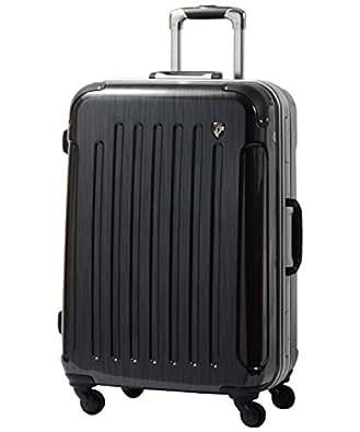 S型 スクラッチガンメタ / newPC7000 スーツケース キャリーバッグ TSAロック搭載 鏡面加工 (1~3日用)