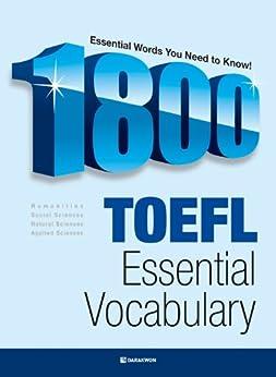 1800 TOEFL ESSENTIAL VOCABULARY by [Sangik, Cho]