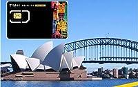 [Vodafone] オーストラリア ニュージーランド 4G-LTE データ通信 使い放題 プリペイドSIMカード (8日間)
