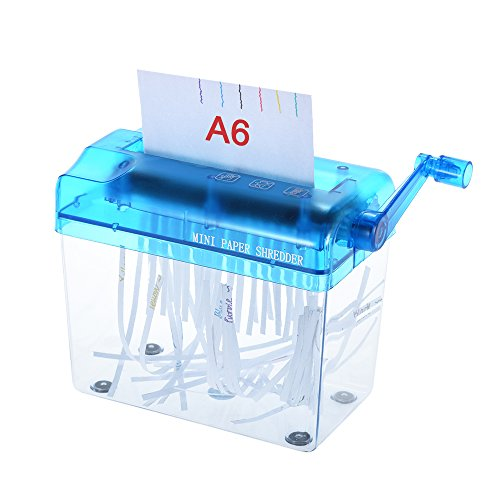Aibecy ハンドシュレッダー A6 卓上シュレッダー 手動式 オフィス・学校・家庭用