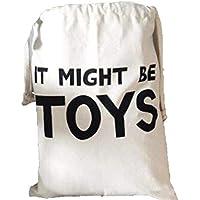 【モノトーンラボ】収納袋 巾着袋 大容量 おもちゃ収納 モノトーン 北欧(TOY)