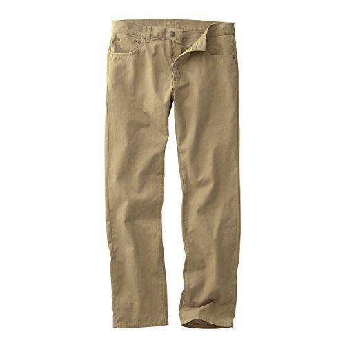 (ニッセン) nissen メンズ パンツ チノパン 5ポケット 綿100% ウオッシュ加工 ( 股下80cm ) ベージュ系 ウエスト 70cm