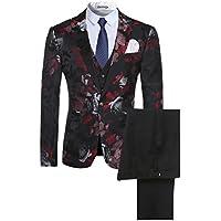 Cloudstyle Men's 3-Piece Suit Casual One Button Slim Fit Blazer Stylish Sport Coat & Trousers
