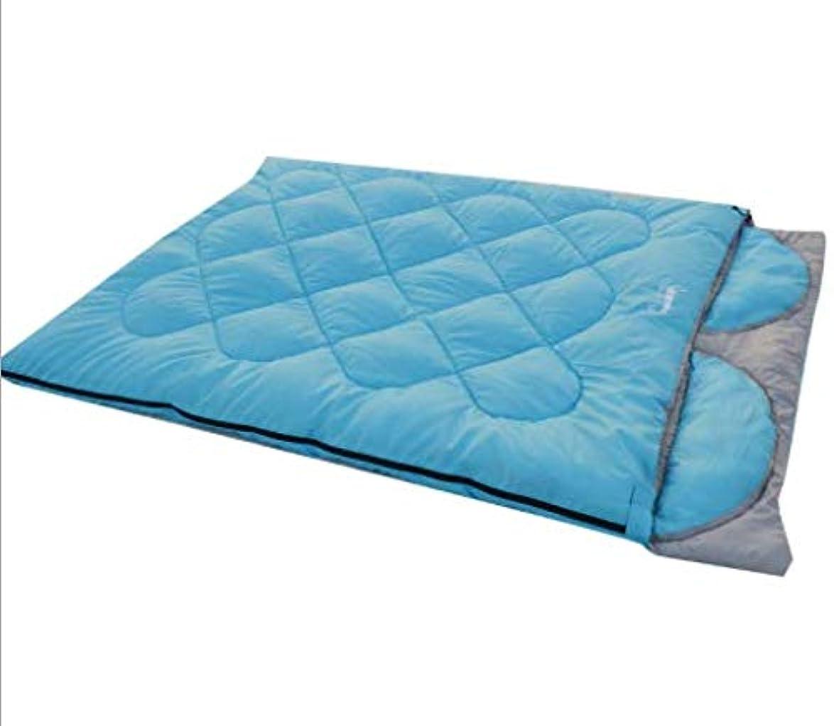 欠席美しい変わるLYgMV 秋と冬のモデルダブル屋外カップル寝袋ファッション風取り外し可能な枕キャンプ寝袋キャンプ寝袋