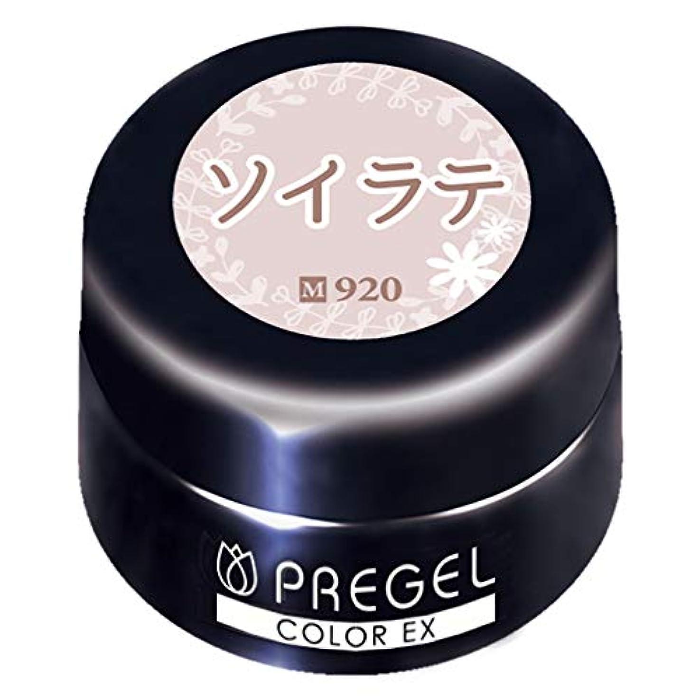 アミューズメントシリーズ通行人PRE GEL カラーEX ソイラテ920 3g PG-CE920 UV/LED対応