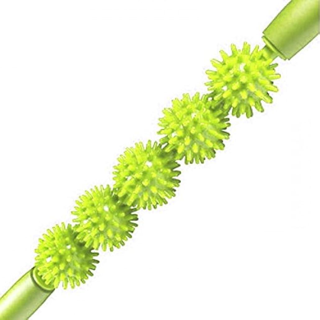 神秘的な日光バラバラにするKabalo Spiky Ball Trigger Point Muscle Therapy Stick Roller Spikey Massage Wand Rolling (Green)