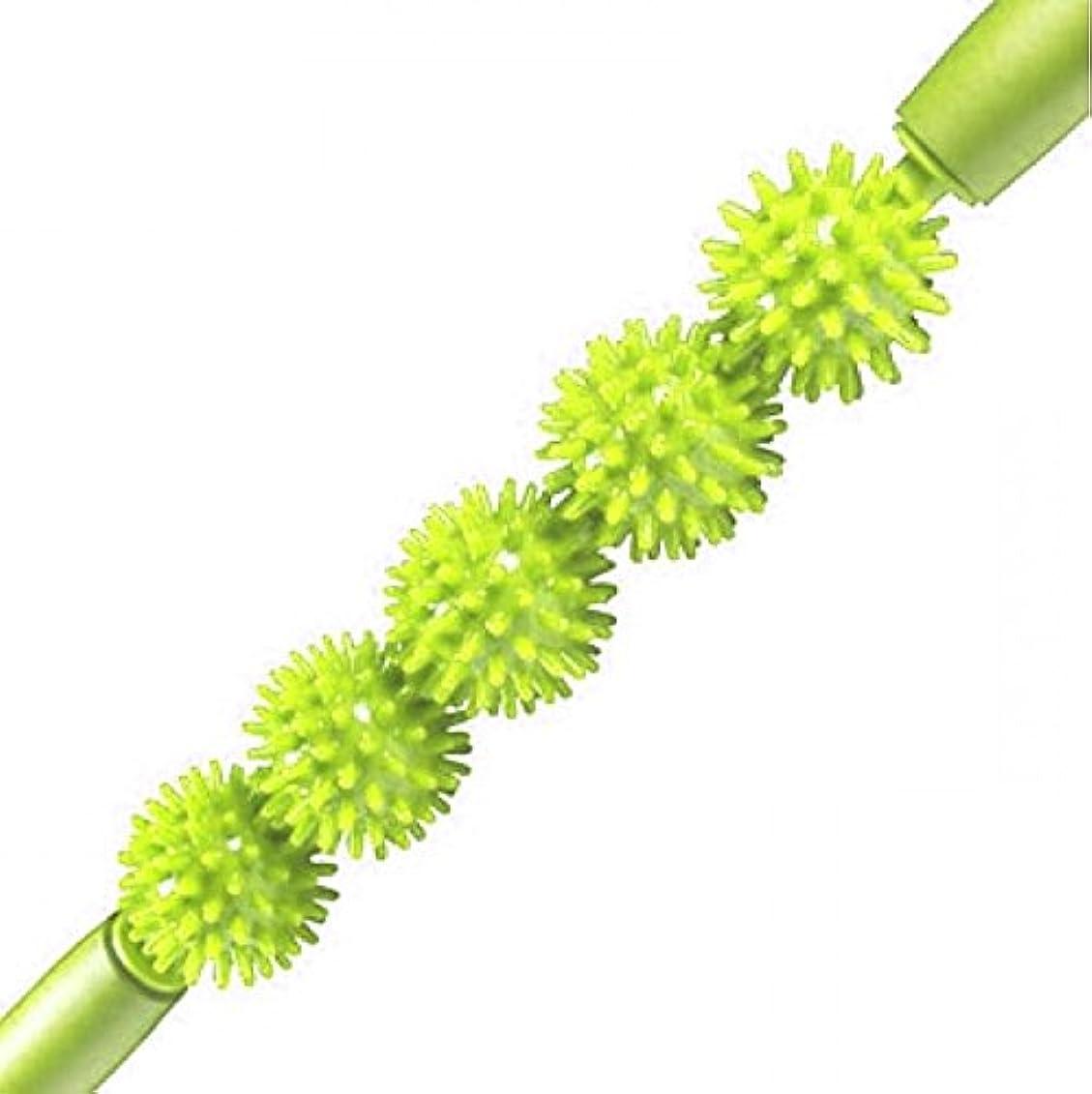 スペードマトリックス服を洗うKabalo Spiky Ball Trigger Point Muscle Therapy Stick Roller Spikey Massage Wand Rolling (Green)