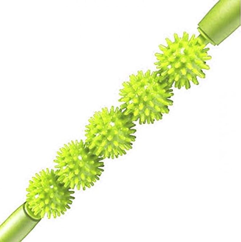心配するハーブ浜辺Kabalo Spiky Ball Trigger Point Muscle Therapy Stick Roller Spikey Massage Wand Rolling (Green)