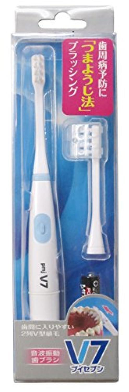 おとこきらめき乱れつまようじ法 音波振動歯ブラシ V-7 本体セット