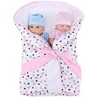 D DOLITY 10インチベビードール 人形 リボーン シリコン 新生児 ソフトバスケット キルト 寝袋付 プレゼント