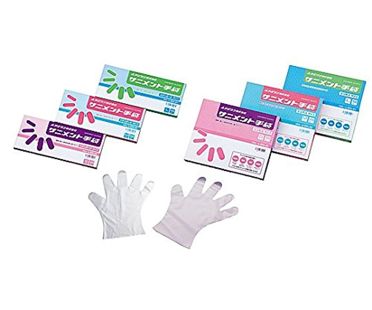 楽観的スペースストライプアズワン9-888-03ラボランサニメント手袋(PE?厚手タイプ)スタンダードS10箱+1箱