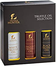 Truffle Oil Selection Gift Set by TruffleHunter - Contains White Truffle Oil, English Truffle Oil, Black Truff