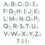 Sizzix Thinlits ダイセット 92個 - エッセンシャルタイプ by Lisa Jones、665335、マルチカラー