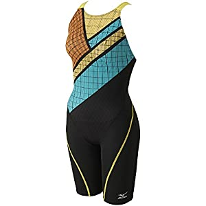 MIZUNO(ミズノ) 競泳水着 レディース ストリームアクティバ ハーフスーツ 寺川綾コレクション FINA承認 N2MG7749 ブラック×イエロー M