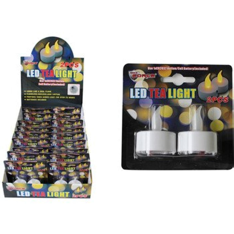 多年生読みやすい戻るDDI 2125463 2-Piece LED Tea Lights Case of 18