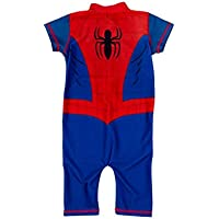 Spiderman Boys' UPF50+ Swimsuit Red/Blue