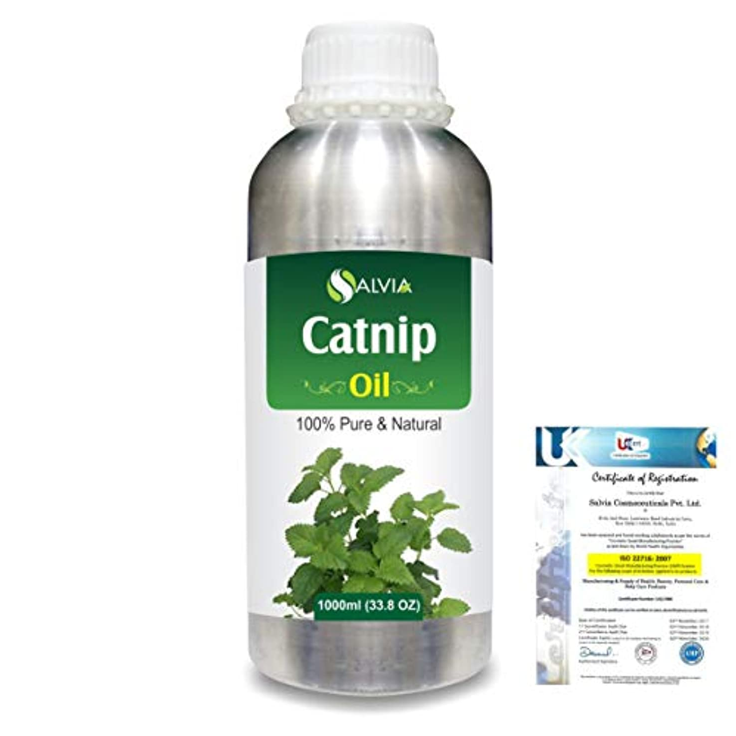 かごキャプチャー翻訳者Catnip (Nepeta cataria) 100% Natural Pure Essential Oil 1000ml/33.8fl.oz.