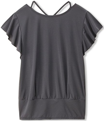 [해외](댄스 킨) DANSKIN 요가 YOGA 플레어 프렌치 셔츠 DY57306 [여성]/(Danskin) DANSKIN Yoga Wear YOGA Flare French Shirt DY 57306 [Women`s]