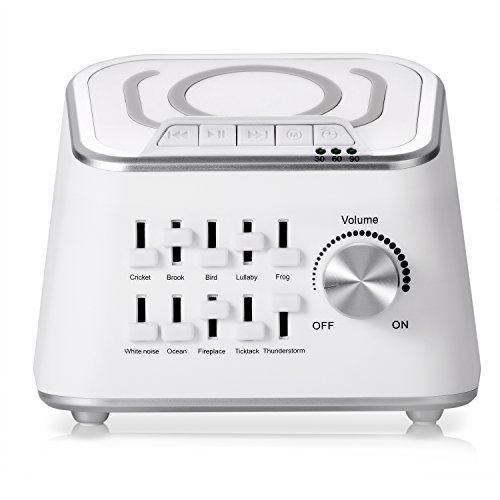 Sennic ホワイトノイズマシン 10種サウンド USB充電 ワイヤレスオーディオ兼用 自動オフタイマー付き 快眠グッズ