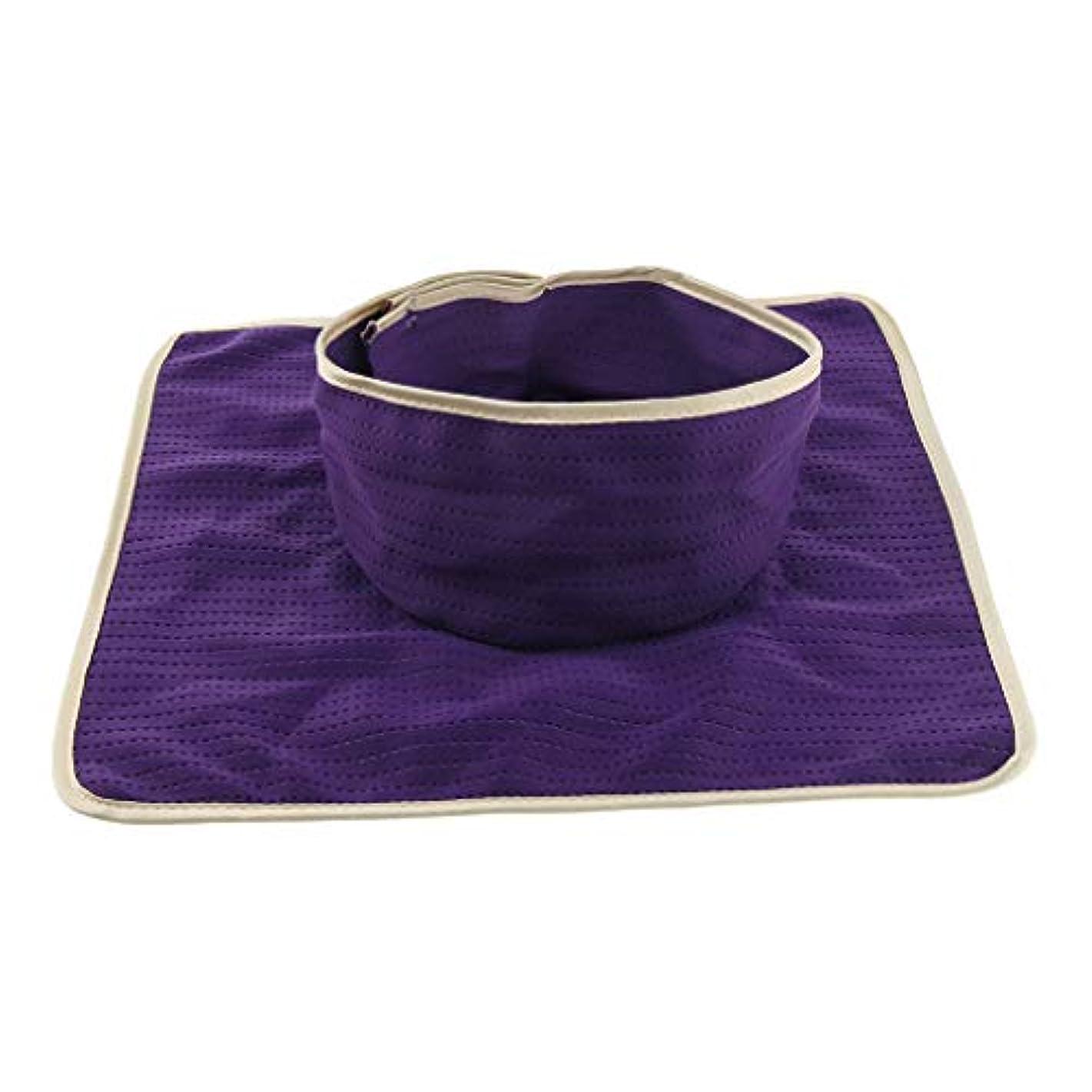 インタビューオートマトンプロフェッショナルD DOLITY マッサージ ベッド テーブル ヘッドパッド 頭の穴付 再使用可能 約35×35cm 全3色 - 紫