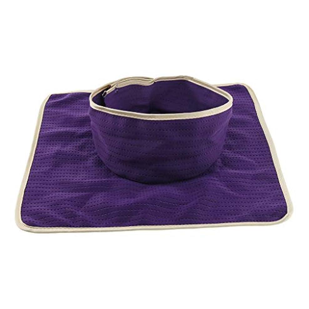 スキー大気音声学D DOLITY マッサージ ベッド テーブル ヘッドパッド 頭の穴付 再使用可能 約35×35cm 全3色 - 紫