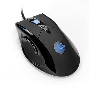 Anker 8200 DPI レーザープレシジョン・ゲーミングマウス 9つのカスタマイズ可能なボタン マクロ設定可能 調節可能なウェイトカートリッジ 信頼のオムロン製マイクロスイッチ搭載